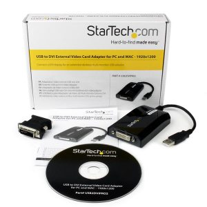 StarTech.com-USB to DVI Adapter – External USB Video Graphics Card for PC and MAC- 1920×1200-USB2DVIPRO2