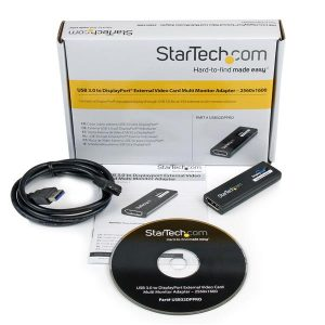 StarTech.com-USB 3.0 to DisplayPort External Video Card Multi Monitor Adapter – 2560×1600-USB32DPPRO