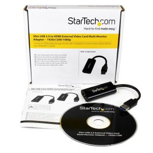 StarTech.com-Slim USB 3.0 to HDMI External Video Card Multi Monitor Adapter – 1920×1200 / 1080p-USB32HDES