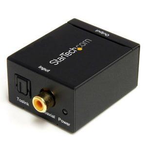 StarTech.com-SPDIF Digital Coaxial or Toslink Optical to Stereo RCA Audio Converter-SPDIF2AA