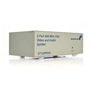 StarTech.com-2 Port High Resolution VGA Video Splitter with Audio – 400 MHz-ST122PROA