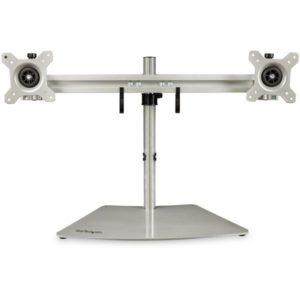 StarTech.com Dual-Monitor Stand – Horizontal – Silver ARMDUOSS